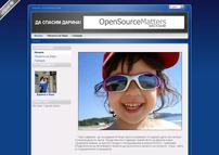 Първоначалният вид на сайта